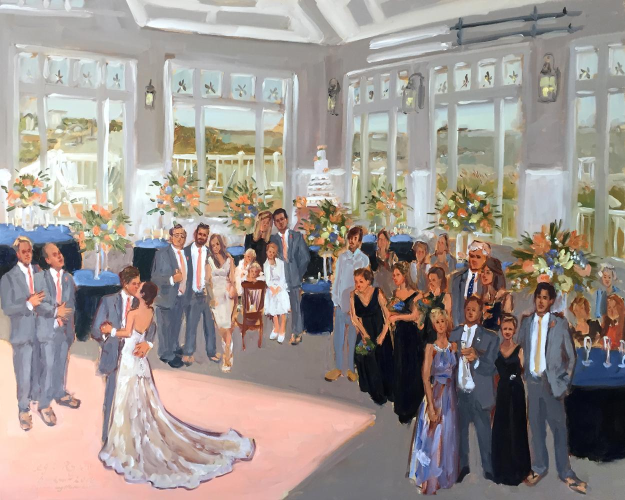 Live Painting at a DE wedding at the Lewes Yacht Club