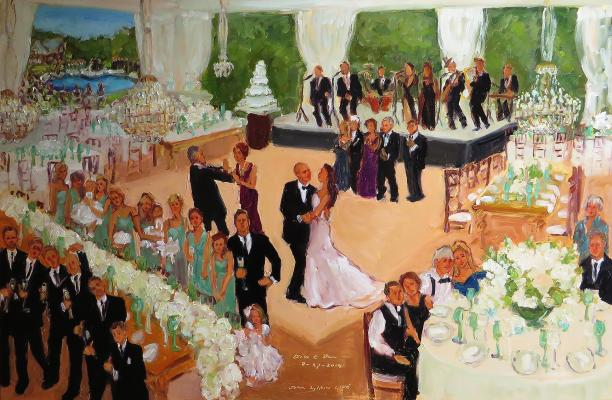New Jersey Wedding live event painting