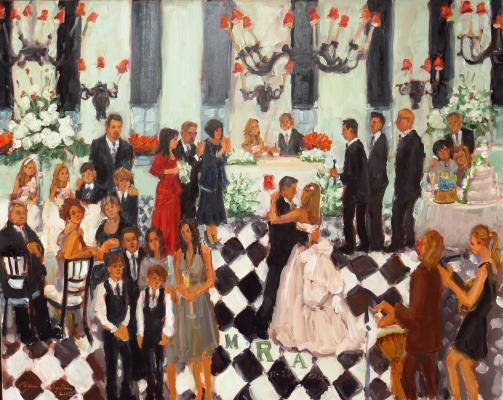 Congress Hall Wedding painted live