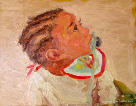 baby portrait painted by Joan Zylkin: 11x14 ins oils SOLD