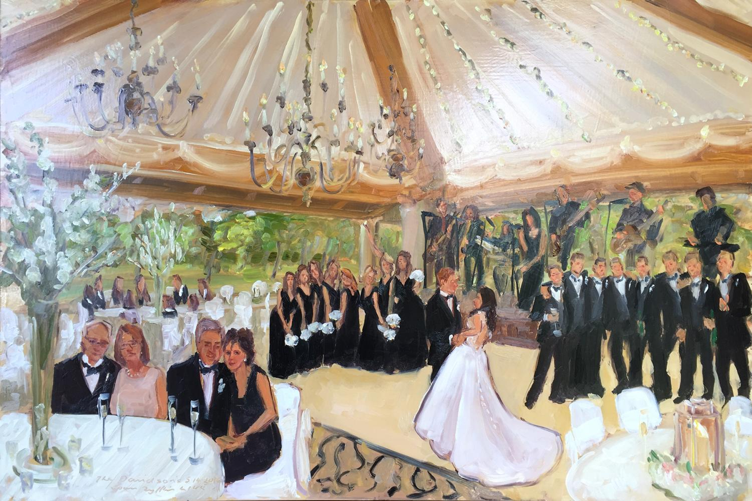 Live event painter at Cedarbrook Country Club