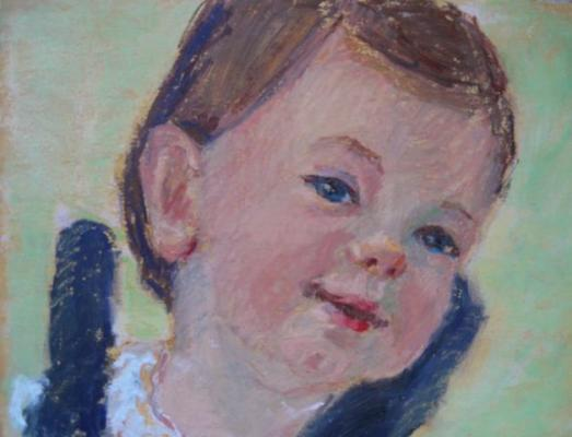 children's portraits painted by Joan Zylkin:  oil pastel