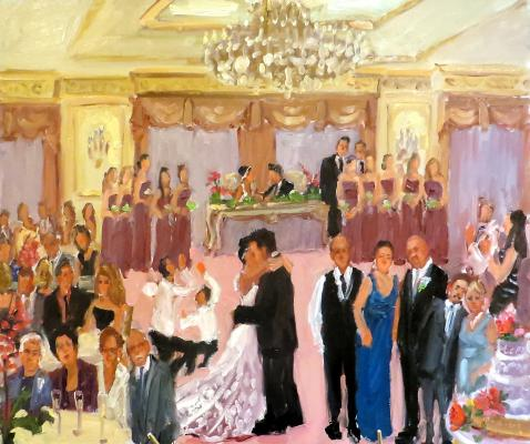 Live event wedding painting