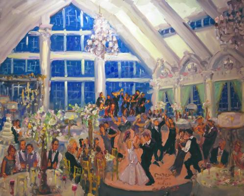 Ashford Estate Wedding live event painting