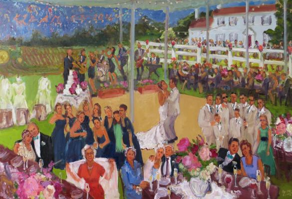Live event painting Delaware wedding