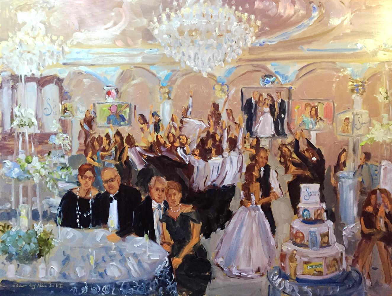 Live event painting, my third Mitzvah painting for this family
