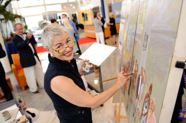 Live Event Painter intrigues Clients at Corporate Event