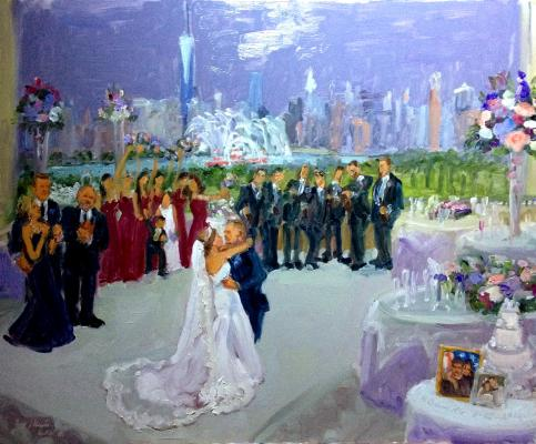 Liberty House Wedding live event painting