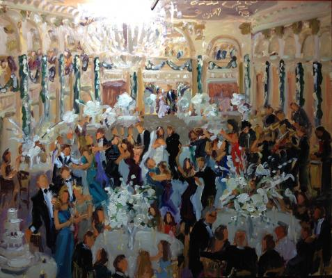 Ballroom at the Ben Wedding live event  painting