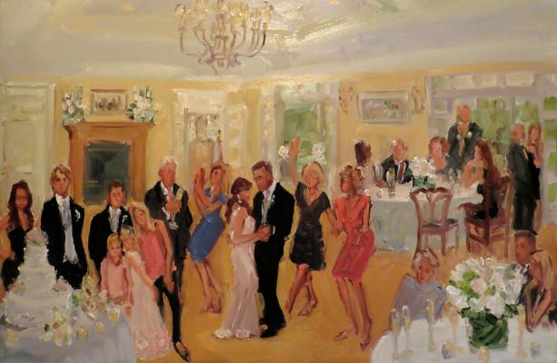 Baltimore Wedding live event painting